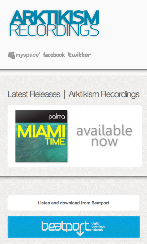 Arktikism Recordings Responsive Adaptable Mobile Device Ready Site !